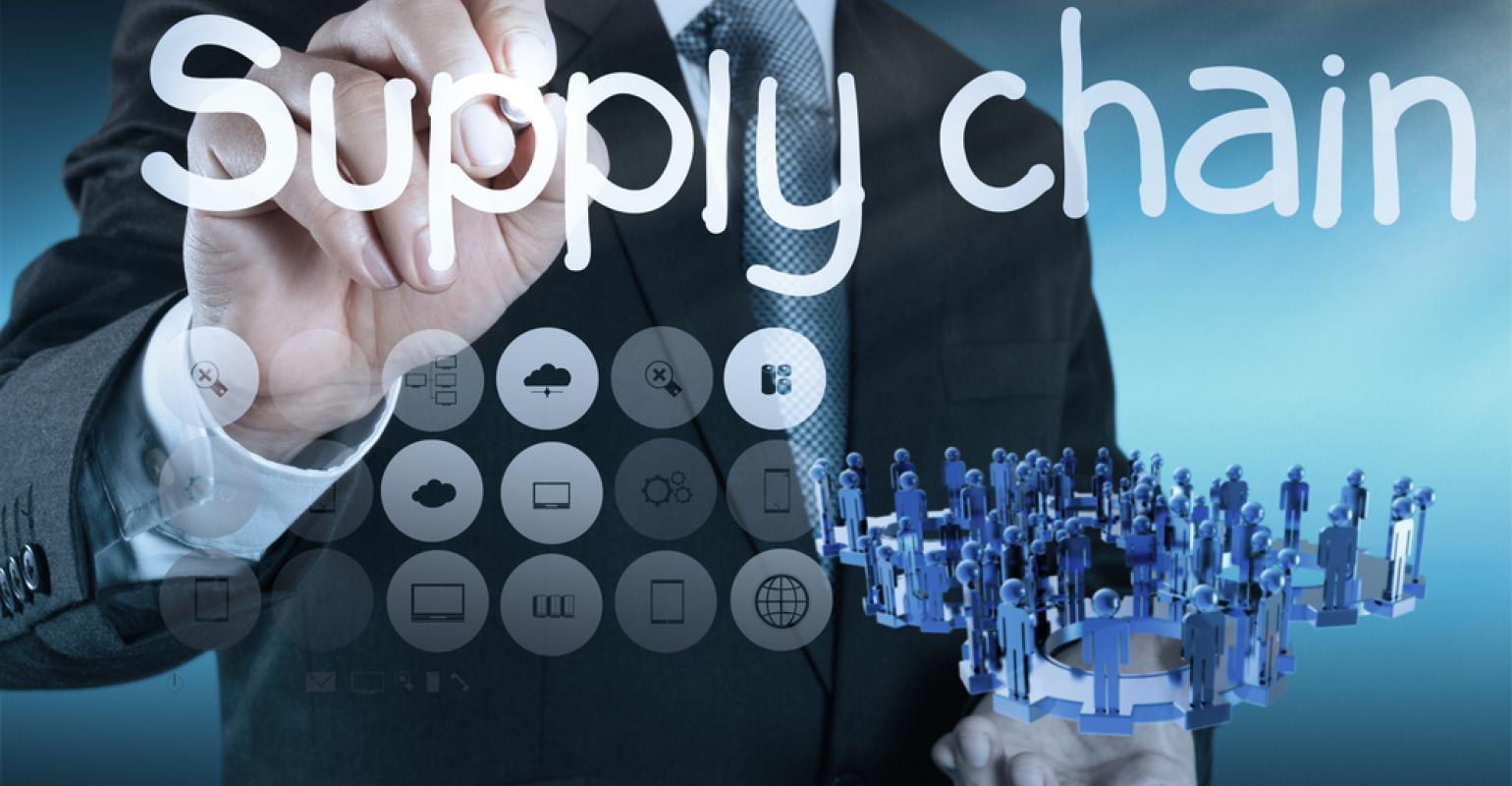 supply cahin In commerce, supply chain management (scm), the management of the flow of goods and services, involves the movement and storage of raw materials, of work-in-process inventory, and of finished goods from point of origin to point of consumption.