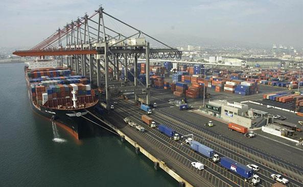 West Coast Port before the slowdown