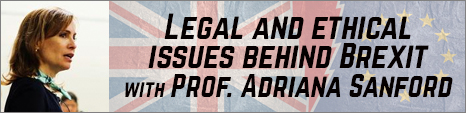 Legal and ethical issues behind Brexit