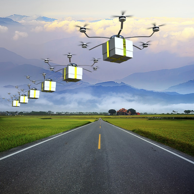 Image result for sky full of delivery drones